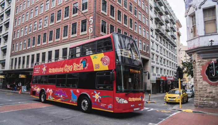 City Sightseeing bus in Long Street